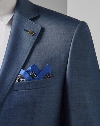 Ted Baker Paisley And Lily Silk Pocket Square