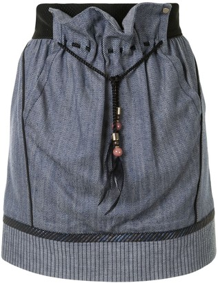 Louis Vuitton Pre-Owned Panelled Mini Skirt