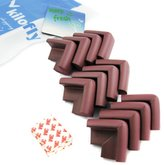 KF Baby Table Corner Guard, Brown, 12pc, with kilofly Refrigerator Magnet
