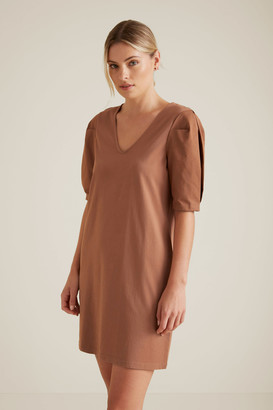 Seed Heritage Mini Puff Sleeve Dress