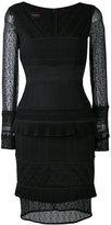Talbot Runhof layered lace dress - women - Polyamide/Polyester/Spandex/Elastane - 34
