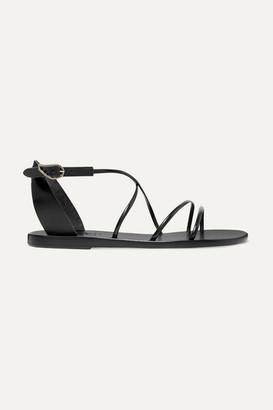 Ancient Greek Sandals Meloivia Leather Sandals - Black