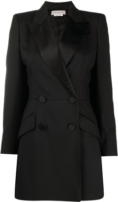 Alexander McQueen Double-Breasted Tailored Cape Coat