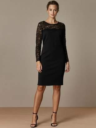 Wallis Petite Lace Yolk Dress Black
