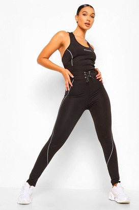 boohoo Reflective Piping Active Leggings