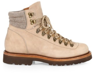 Brunello Cucinelli Nabuck Leather Hiking Boots