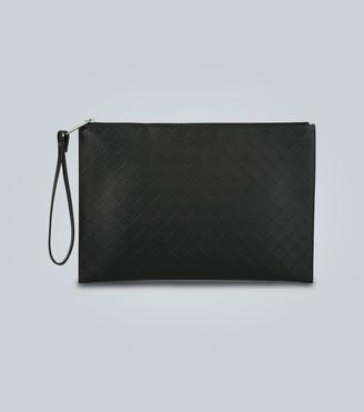 Bottega Veneta Intarsio leather travel pouch