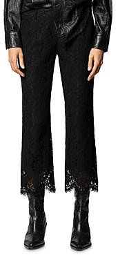 Zadig & Voltaire Posh Lace Cropped Pants
