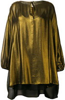 Mes Demoiselles shift metallic blouse - women - Silk/Viscose - 34