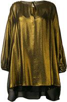 Mes Demoiselles shift metallic blouse