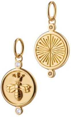 Monica Rich Kosann Queen Bee Charm with Diamonds