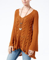 Free People Waterfall V-Neck Pullover Sweater