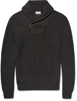 Brioni - Shawl-collar Honeycomb-knit Cashmere Sweater