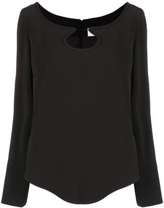 Courreges cut-out detail blouse