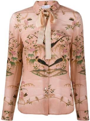 RED Valentino floral and bird print shirt