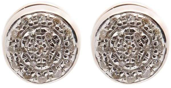 Monica Vinader Rose Gold-Plated Fiji Button Diamond Stud Earrings