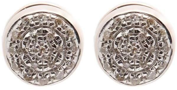 Monica Vinader Rose Gold Vermeil Fiji Mini Diamond Button Stud Earrings