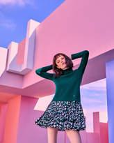 Ted Baker Woolblend pleated skirt sweater dress