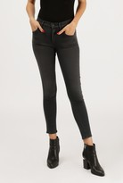 Gold Sign Virtual High Rise Skinny Crop