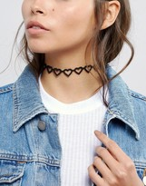 Asos Open Hearts Choker Necklace