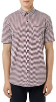 Topman Men's Zigzag Trim Fit Sport Shirt