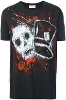 Faith Connexion hand-painted skull T-shirt