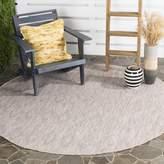 Safavieh Courtyard Collection CY8522-36311 Beige Indoor/Outdoor Round Area Rug, 6-Feet 7-Inch in Diameter