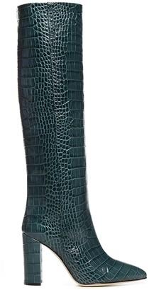 Paris Texas Embossed Knee-High Boots