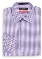 Saks Fifth Avenue Trim-Fit Mini Check Dress Shirt