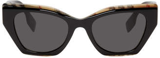 Burberry Black Archive Check Sunglasses