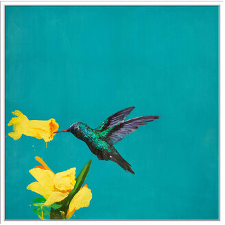 Jonathan Bass Studio Hello 3, Decorative Framed Hand Embellished Canvas