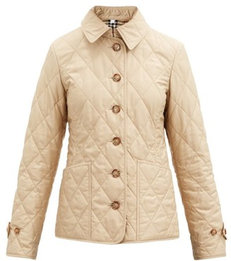 Burberry Fernleigh Diamond-quilted Jacket - Beige