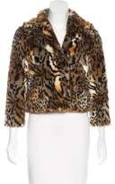Mother Faux Fur Animal Print Jacket