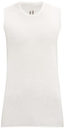 Rick Owens Longline Cotton-jersey Tank Top - White