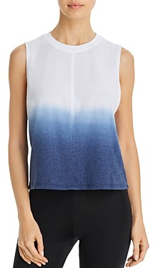 Aqua Athletic Split-Back Dip-Dye Tank - 100% Exclusive
