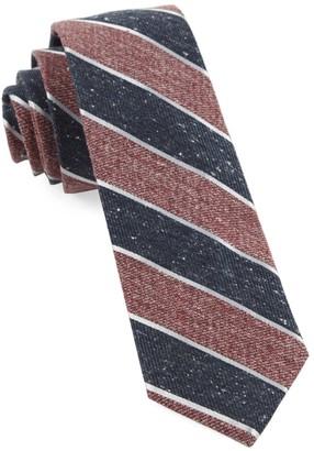 Tie Bar Splattered Repp Stripe Light Raspberry Tie