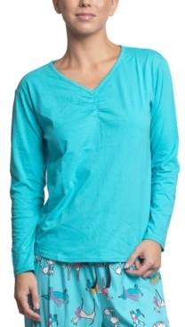 Muk Luks Plus Size Long Sleeve Pajama T-Shirt
