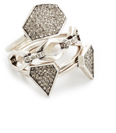 Luv Aj The Pave Shield Ring Set
