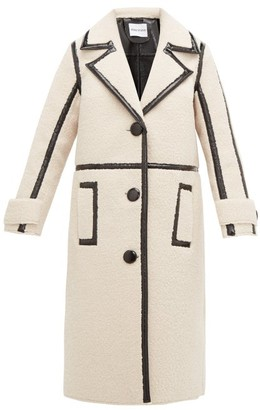 Kenzie Stand Studio Patent-edged Faux-shearling Coat - Womens - Multi