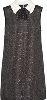 Miu Miu sequinned boucle dress