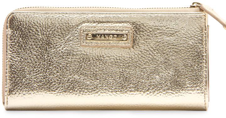 MANGO Plain-front wallet