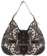 Alexander McQueen Leather-Trimmed Canvas Hobo
