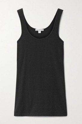 James Perse Stretch-cotton Jersey Tank - Anthracite