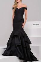 Jovani Off Shoulder Mermaid Dress in Black 31100B