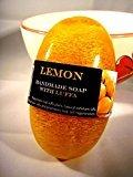 Luffa Lemon Handmade Body Soap Bright Skin Bath Glycerin&aroma Oil,90g. 1pcs