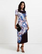 Star by Julien Macdonald Abstract Floral Jersey T-shirt Dress