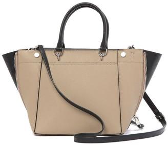 Calvin Klein Susan Saffiano Leather Trapeze Handbag