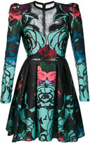 Elie Saab roses print flared dress