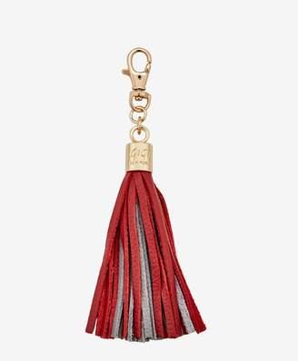 GiGi New York Tassel Bag Charm In Red And Grey