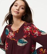 LOFT Autumn Luau Shoulder Button Blouse
